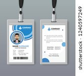 creative id card template with... | Shutterstock .eps vector #1240597249