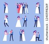 wedding celebration ceremony of ... | Shutterstock .eps vector #1240598269