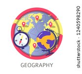geography discipline at school... | Shutterstock .eps vector #1240598290
