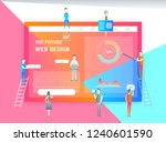 web page design concept banner...