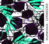 tropical  stripe  animal motif. ... | Shutterstock .eps vector #1240602343