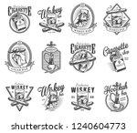 vintage gentleman club labels... | Shutterstock .eps vector #1240604773