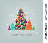 merry christmas postcard with... | Shutterstock .eps vector #1240604836