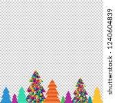happy christmas tree... | Shutterstock .eps vector #1240604839
