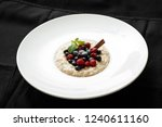 close up of oatmeal with...   Shutterstock . vector #1240611160