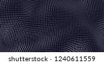 vector blue field visualization ...   Shutterstock .eps vector #1240611559