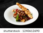 close up of meat dish with...   Shutterstock . vector #1240612690