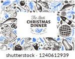 Happy Christmas Dinner Design...