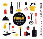 culinary workshop. inscription... | Shutterstock .eps vector #1240613893