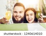 portrait smiling couple in love ...   Shutterstock . vector #1240614010