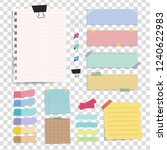 colorful reminder paper notes... | Shutterstock .eps vector #1240622983