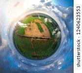 little planet spherical... | Shutterstock . vector #1240623553