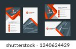 double sided creative business... | Shutterstock .eps vector #1240624429