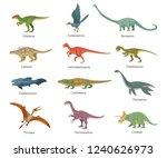 set of animals living in... | Shutterstock .eps vector #1240626973