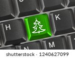 computer keyboard with... | Shutterstock . vector #1240627099