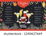 chalk drawning christmas menu... | Shutterstock .eps vector #1240627669