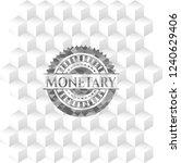 monetary realistic grey emblem... | Shutterstock .eps vector #1240629406