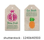 colorful tags with pomegranate  ... | Shutterstock .eps vector #1240640503