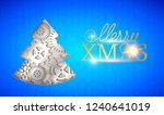 happy new year card. merry xmas ... | Shutterstock .eps vector #1240641019