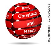red abstract christmas ball... | Shutterstock .eps vector #1240642096