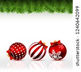 christmas greeting card with... | Shutterstock .eps vector #1240642099