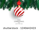 christmas party poster and... | Shutterstock .eps vector #1240642423
