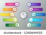 timeline infographics 10 steps... | Shutterstock .eps vector #1240644433