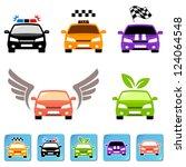 car icon set   Shutterstock .eps vector #124064548