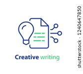 creative writing and... | Shutterstock .eps vector #1240647850