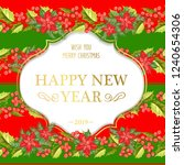 merry christmas card with the... | Shutterstock .eps vector #1240654306