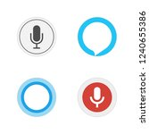 voice assistants. icon set of... | Shutterstock .eps vector #1240655386