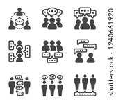 dialogue people talking people... | Shutterstock .eps vector #1240661920