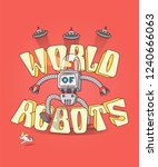 world of robots is a colored...   Shutterstock .eps vector #1240666063