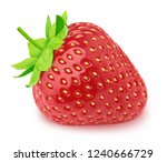 Fresh strawberry isolated on a...