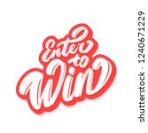 enter to win  vector banner. | Shutterstock .eps vector #1240671229