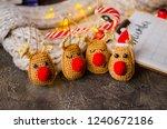 christmas reindeer. a closed up ... | Shutterstock . vector #1240672186