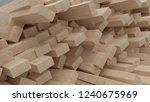 3d render of construction... | Shutterstock . vector #1240675969