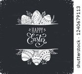 happy easter greeting card...   Shutterstock .eps vector #1240679113
