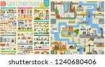 great city map creator.seamless ... | Shutterstock .eps vector #1240680406