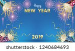 2019 happy new year background... | Shutterstock .eps vector #1240684693