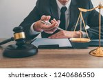 law  lawyer attorney and... | Shutterstock . vector #1240686550
