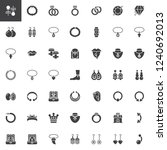 jewellery accessories vector... | Shutterstock .eps vector #1240692013