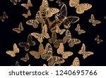 flock of fluttering butterflies.... | Shutterstock .eps vector #1240695766