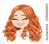 beautiful happy cartoon... | Shutterstock .eps vector #1240696843