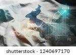 growing statistic financial... | Shutterstock . vector #1240697170