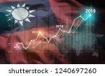growing statistic financial... | Shutterstock . vector #1240697260