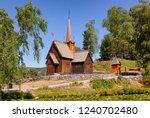 reconstructed wooden garmo... | Shutterstock . vector #1240702480