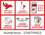 hand drawn vector icons set... | Shutterstock .eps vector #1240709623