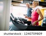 senior people running in... | Shutterstock . vector #1240709809