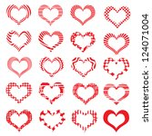 set of symbol hearts valentine... | Shutterstock .eps vector #124071004